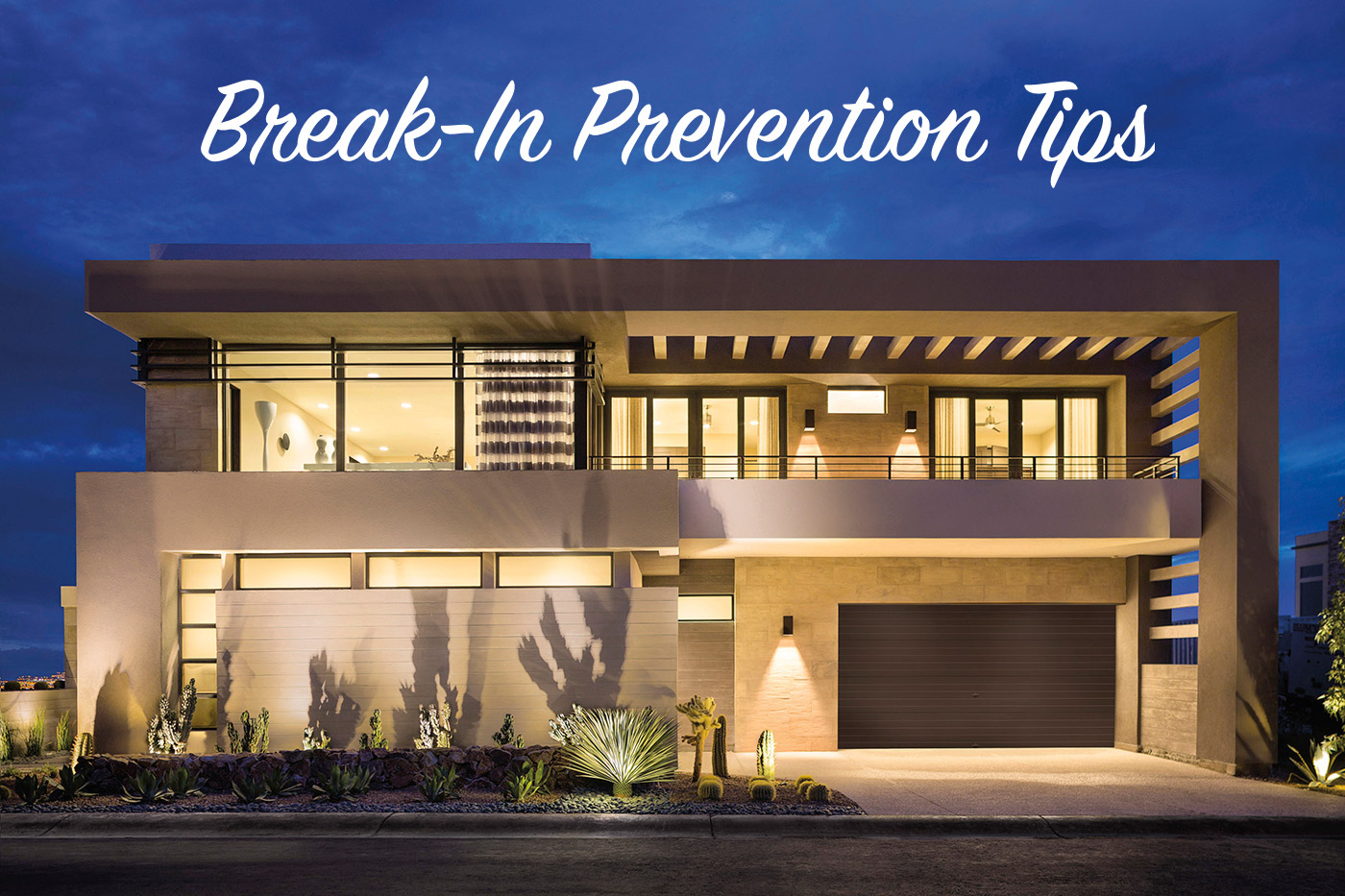 Prevent break-ins through garage door